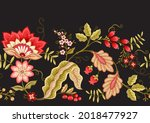 seamless pattern with stylized... | Shutterstock .eps vector #2018477927