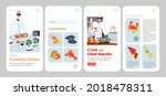 cook food with online culinary... | Shutterstock .eps vector #2018478311