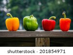 Four Different Colored Peppers...