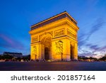 arc of triomphe champs elysees... | Shutterstock . vector #201857164