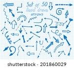 hand drawn arrows set. vector... | Shutterstock .eps vector #201860029