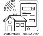 smart home ad vector icon...