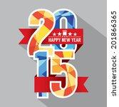 2015 label badge vector... | Shutterstock .eps vector #201866365
