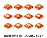 set barcode  delivery box with... | Shutterstock .eps vector #2018676317