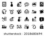 vector set of cleaning icons... | Shutterstock .eps vector #2018680694