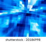 3d background from high speed motion blurred cubes - stock photo