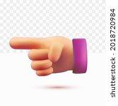 3d hands  finger pointing. one... | Shutterstock .eps vector #2018720984