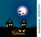 halloween night | Shutterstock .eps vector #201872347