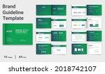 brand guidelines template brand ... | Shutterstock .eps vector #2018742107