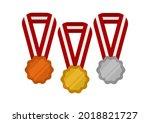 illustration of a gold medal... | Shutterstock .eps vector #2018821727