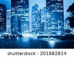 modern office buildings in... | Shutterstock . vector #201882814