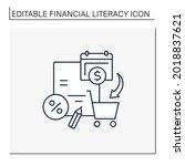 spending plan line icon... | Shutterstock .eps vector #2018837621