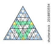unusual triangular sudoku game... | Shutterstock .eps vector #2018853554