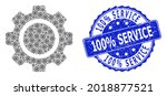 100 percent service corroded... | Shutterstock .eps vector #2018877521