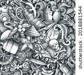 cartoon doodles bahamas...   Shutterstock .eps vector #2018881544