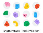 vector geometric stickers with... | Shutterstock .eps vector #2018981234