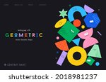 vector landing page with... | Shutterstock .eps vector #2018981237