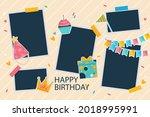 birthday collage frame design.... | Shutterstock .eps vector #2018995991