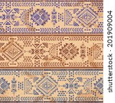 tribal vintage ethnic seamless... | Shutterstock .eps vector #201909004