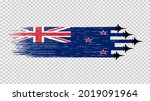 new zealand flag with military...   Shutterstock .eps vector #2019091964