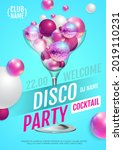 cocktail disco party poster...   Shutterstock .eps vector #2019110231