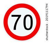 Road Sign Tempo 70 ...
