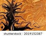 Dark Shadow Tree Devil Pattern...