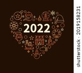 new 2022 year banner or poster... | Shutterstock .eps vector #2019158231
