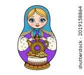 russian traditional nest doll... | Shutterstock .eps vector #2019158864