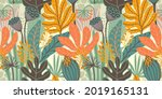 artistic seamless pattern with... | Shutterstock .eps vector #2019165131