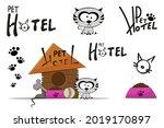 pet hotel illustration set with ... | Shutterstock .eps vector #2019170897