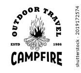 emblem template with campfire.... | Shutterstock .eps vector #2019172574