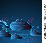 web cloud technology business... | Shutterstock .eps vector #2019175154