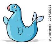 cartoon seal | Shutterstock . vector #201920311