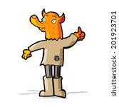 cartoon fox man | Shutterstock . vector #201923701