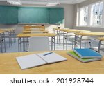 3d rendering of a school... | Shutterstock . vector #201928744