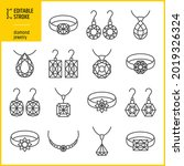 diamond jewelry vector icon set....   Shutterstock .eps vector #2019326324