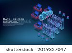 server room and cloud computing ... | Shutterstock .eps vector #2019327047
