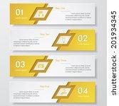 design clean number banners... | Shutterstock .eps vector #201934345