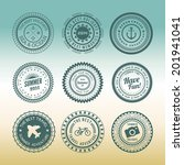 retro design elements summer... | Shutterstock .eps vector #201941041