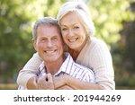 senior couple outdoors | Shutterstock . vector #201944269