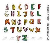 cartoon alphabet | Shutterstock .eps vector #201948589