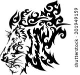 tattoos lions.vector | Shutterstock .eps vector #201949159
