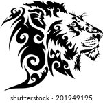 tattoos lions.vector | Shutterstock .eps vector #201949195