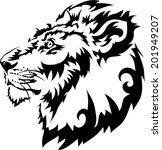 tattoos lions.vector | Shutterstock .eps vector #201949207