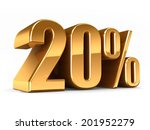 3d render of a gold 20 percent | Shutterstock . vector #201952279
