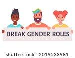break gender roles. gender...   Shutterstock .eps vector #2019533981