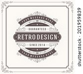 vintage design template. retro... | Shutterstock .eps vector #201959839