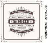 vintage design template. retro... | Shutterstock .eps vector #201959851