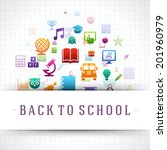 back to school vector... | Shutterstock .eps vector #201960979